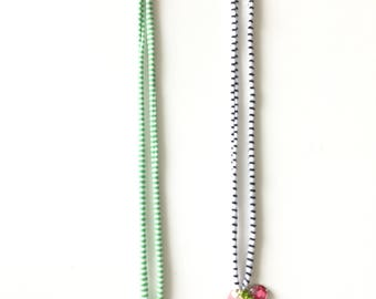 Red glitter Watermelon Necklace