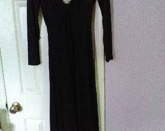 Glamorous black vintage Candi Jones gown
