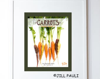 Carrot Seed Packet Wall Art