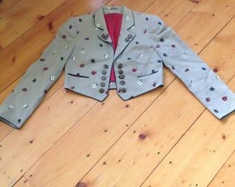 Vintage Helene Straber Blazer/Jacket~~Cropped, Linen