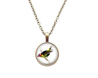 Watercolor Bird pendant Watercolor Bird necklace Watercolor Bird jewelry Animal pendant Animal jewelry Animal necklace For her