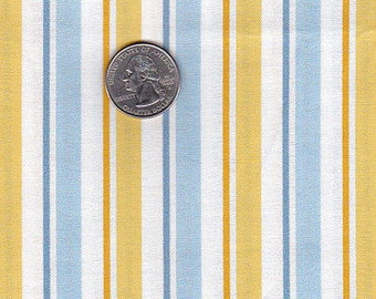 Minions blue/gold striped coordinating fabric