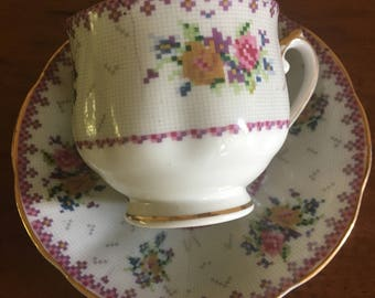 Cherry china cup & saucer