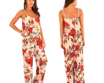 Floral jumpsuit, full length, new