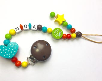 Pacifier clip holder dummy with baby's name