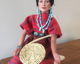 Native American Porcelain Doll by Judy Belle, 1992