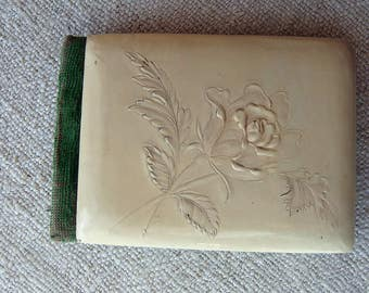 Vintage Antique Celluloid Little Girls Autograph Book 1903 1907 Campbell California Edwardian Sentimental