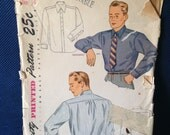 Vintage Simplicity 1952 Men's Shirts Size 16 neck 16 chest 42