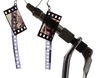 35mm film earrings, frame & track