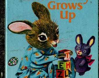 When Bunny Grows Up a Little Golden Book - Patsy Scarry - Richard Scarry - 1992 - Vintage Kids Book