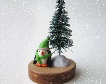 Tiny Winter Penguin Decoration