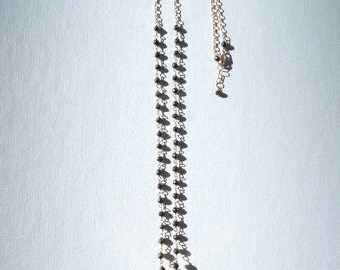 Turquoise & Pyrite Gold Necklace