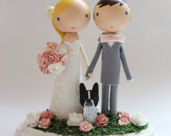 custom wedding cake topper - standard base