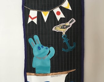 Ahoy Matey Quilted Wall Hanging