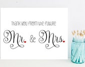 Thank you from the future Mr. and Mrs. - Wedding Thank You Cards - Card for wedding - Wedding Cards- Wedding Thank you Card - Wedding Cards