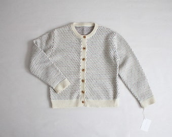 wool cardigan | cardigan sweater | cream wool sweater