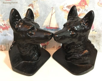 FREE SHIPPING Very RARE Vintage Antique Cast Iron German Shepherd, Paperweights, Bookends, Doorstops, or Figurine Collectibles