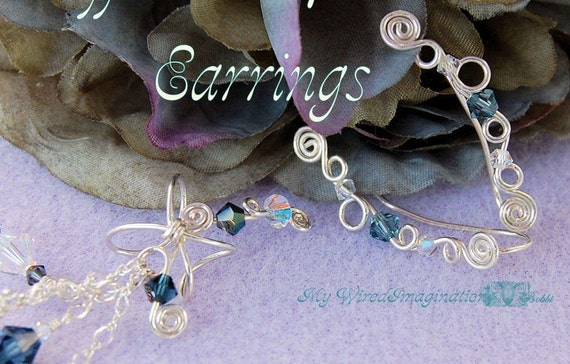 Cuffs AND Climbers Earrings, Jewelry Tutorial Package, Both Ear Cuffs and Ear Climbers, 25 Percent Discount, Instant Download PDF Files
