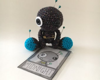 Midnight the Amigurumi Black Sparkly Voodoo Doll