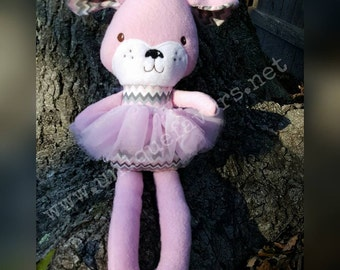 """Handmade Puppy Doll 18.5"""" or 15"""" with or without Tutu! Boy and Girl versions available! Each is unique, one of a kind! Fully washable!"""