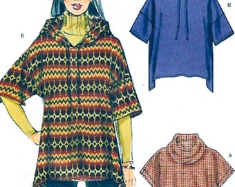 Oversized pullover tops Casual multi size Stitch N Save 6774 sewing pattern Sz XS to XL Uncut