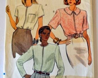 Vintage Sewing Pattern Vogue 7972 Misses' Blouse Size 8-12 Bust 30-34 inches Uncut Complete
