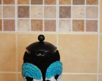 owl French Press Cozy Cover owl bodum cozy cafetiere cozy owl coffee pot cozy coffee pot cosy Coffee Pot Warmer gift