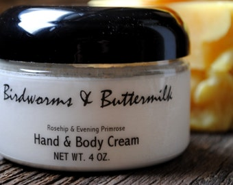 Handmade Hand and Body Cream with Rosehip and Evening Primrose Oil