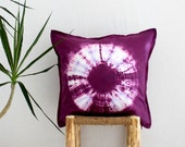 KARMA . tie dye cushion cover . pillow . throw cushion . decorative pillow . throw pillow . maroon purple . boho gypsy hippie tribal hippy