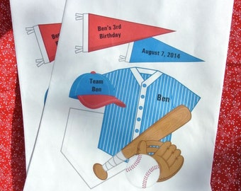 Baseball Favors | Baseball Birthday | Baseball Favor Bags | Baseball Candy Bag |Personalized Baseball Candy Bag |  Favor Bags | Treat Bags