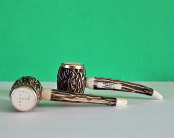 VINTAGE salt & pepper shaker / salt and pepper shaker / pipe / vintage pipe / housewarming gift / fathers day gift / vintage kitchen