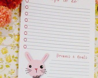 Things to do & gift Tags - 2 sheets bunny pincushion art artwork label storage organize sewing room studio