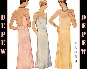 Vintage Sewing Pattern Ladies' 1920's - 1930's Style Slip Depew #3069 -INSTANT DOWNLOAD