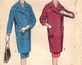 1950s Advance 8925 UNCUT Vintage Sewing Pattern Misses Coat Suit Size 16 Bust 36