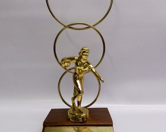 1960s bowling trophy