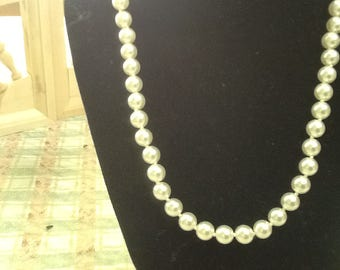 KNOTTED PEARL CHOKER necklace vintage