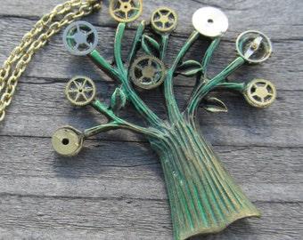 Steampunk gear tree
