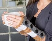 Knit Fingerless Gloves Brown Gloves Grey Winter Accessories Womens Winter Gloves White Warm Gloves Texting Gloves Winter Fingerless Gloves