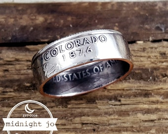 Colorado Coin Ring State Quarter Double Sided  Your Size MR0703-TSTCO