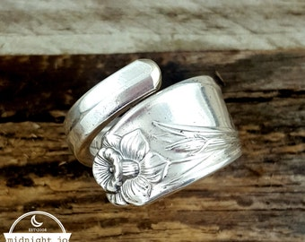 Spoon Ring Daffodil Vintage Wrapped Your Size MR0201-DAC111