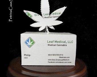 Cannabis Leaf Business Card Sculpture - Design 1470