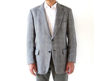 Harris Tweed Jacket | Vintage Suit Jacket | Herringbone Jacket | 40 R
