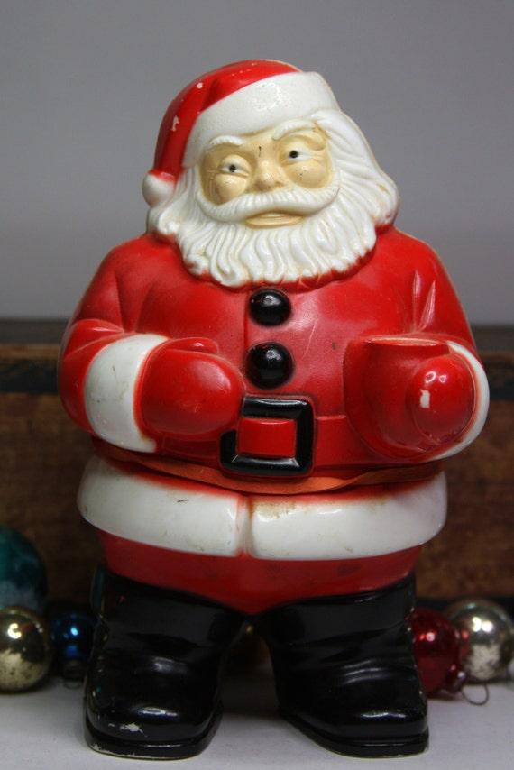 Vintage plastic santa lighted claus retro holiday
