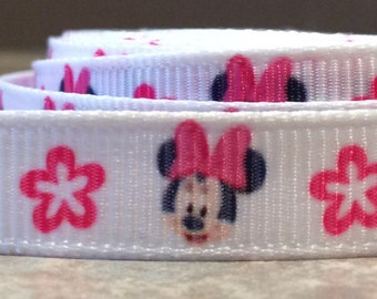 Minnie mouse 3/8 inch ribbon