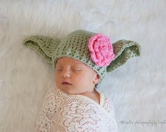 Baby Yoda Hat Star Wars Hat Newborn 0 3m 6m Green Crochet Baby Clothes Boys Girls POPULAR Worldwide Fathers Day Gift Daddies Love This