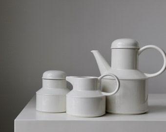 Midwinter Stonehedge Coffee Set, R.W. Midwinter England, Mid-Century Coffee Set, Creamer & Sugar Set, Mod Coffee Set, MCM Wedding Gift