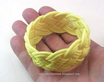 yellow paracord rope bracelet rope jewelry cuff bracelet turks head knot armband sailor rope bracelet 3902
