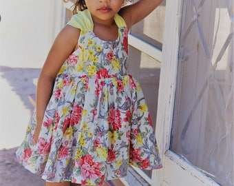 New Release Summer Dress Collection Cairo Big Bow Sun Dress available in sizes 0-3 mos up to girls size 16 infants, toddlers, tweens