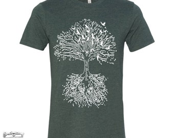 Mens ROOTS TREE T-Shirt s m l xl xxl (+ Color Options)