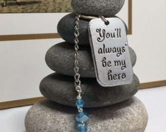 Youll always be my hero Rock Cairn, I Love my Soldier, Son, Daughter, Proud, Military, Hero, Patriot, Air Force Mom, Dad, Desk Gift